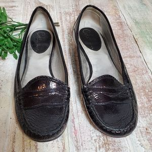 Cole Haan Nike Air Black Patented Leather Loafers
